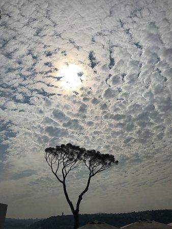 Sakıp Sabancı Müzesi: SSM'de Terasda yoga yaparken sabah gökyüzü