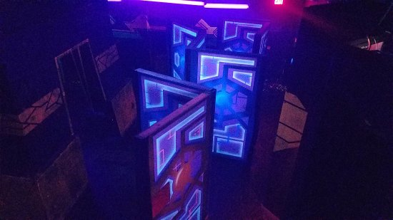 Ultrazone Extreme Laser Tag Everything Glows In The Dark Inside Under Uv Lighting
