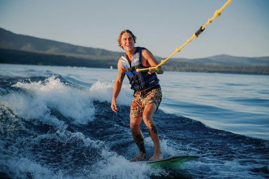 Tahoe City, CA: Learn to wakesurf at our fully equipped Watersports School!