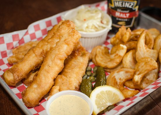 Edmond, Oklahoma: Fish and Chips (with hand battered cod!)
