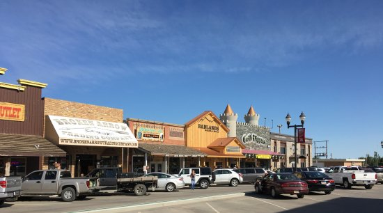 Wall, SD: Town area