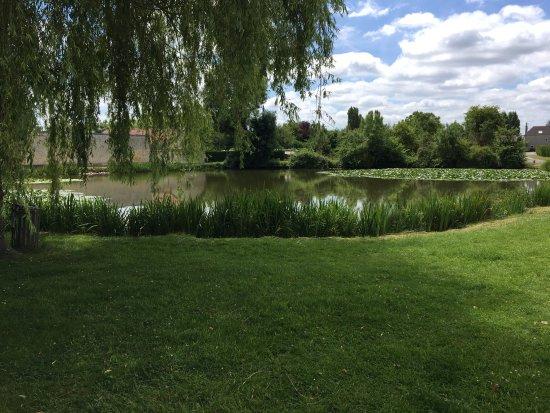 A l'Ombre Bleue : le lac vue depuis la chambre