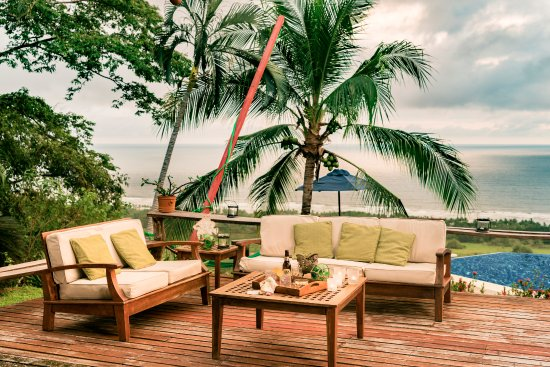 Playa San Miguel, Costa Rica: A tropical open air lounge area! And unlike the beach, we have no mosquitos to disturb this peac