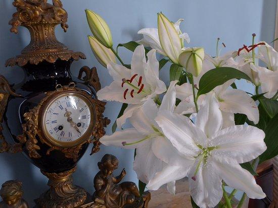 Marazion, UK: Lilies in Blue Room