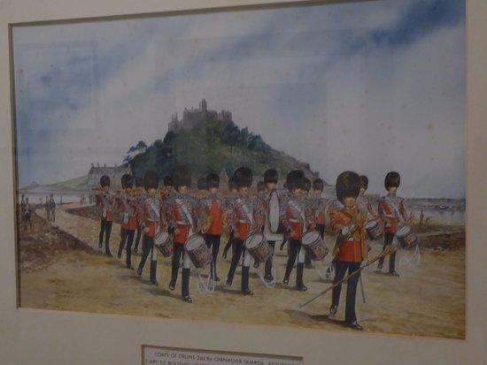 Marazion, UK: Picture of Soldiers with St. Michael's Mount