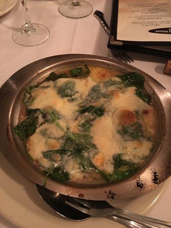 Chesterfield, MO: The Escargot with spinach, garlic and cheese. EXCELLENT