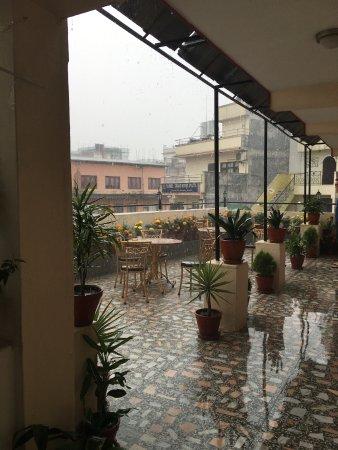 Kathmandu Grand Hotel: Roof Terrace back