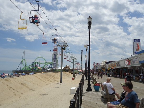 Seaside Heights, Nueva Jersey: Looking down the Boardwalk