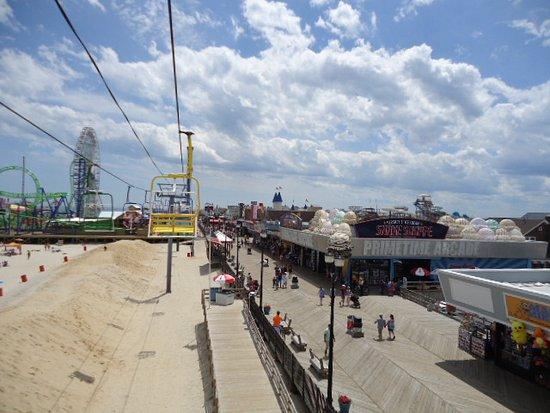 Seaside Heights, NJ: Boardwalk from the chair ride