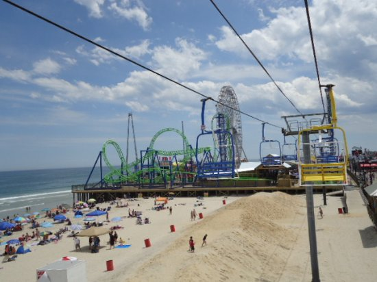 Seaside Heights Boardwalk Amusement Park from the chair ride & Amusement Park from the chair ride - Picture of Seaside Heights ...