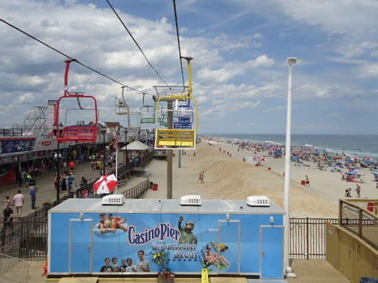 Seaside Heights, Nueva Jersey: View of the beach from the chair ride