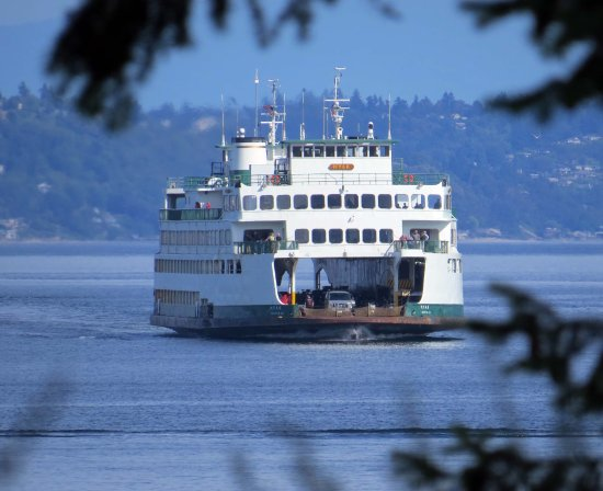 Port Orchard, WA: Seattle - Bremerton Ferry seen from State Park