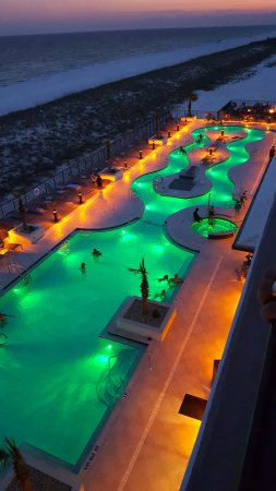 Springhill Suites By Marriott Navarre Beach Lazy River Lights