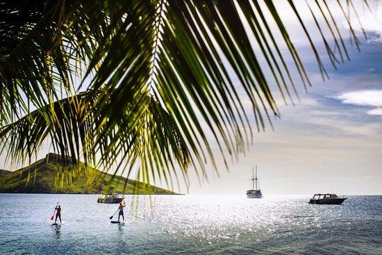 Rakiraki, Fiyi: Afternoon SUP in front of the resort