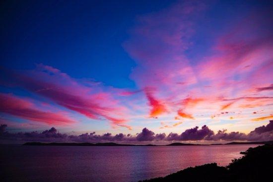 Rakiraki, Fiyi: amazing pink sunsets are common from Volivoli