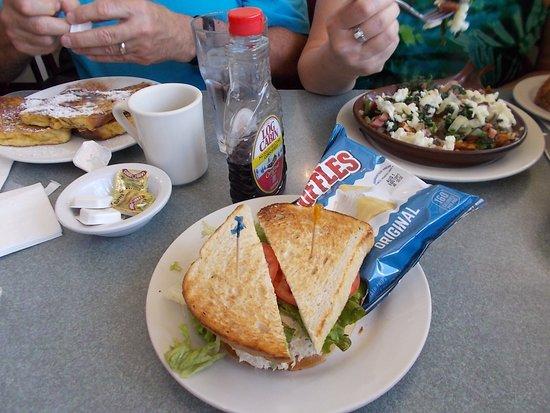 Whistle Stop Diner, Birmingham MI. Excellent tuna sandwich.