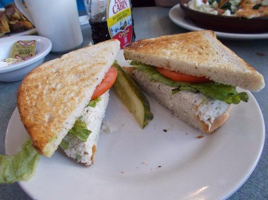 Whistle Stop Diner, Birmingham MI. Super tuna sandwich.