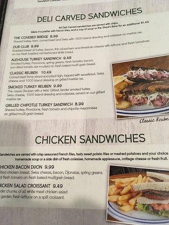 Urbandale, IA: Sandwich Menu