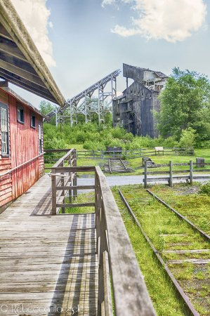 Weatherly, PA: The coal breaker rebuilt for a movie.