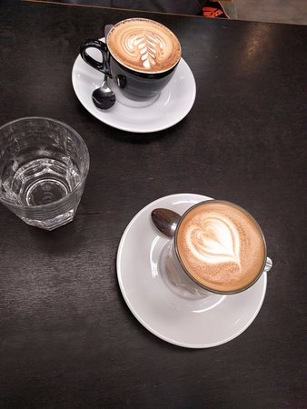 Prahran, Australia: Top: Cappuccino, Bottom: Latte