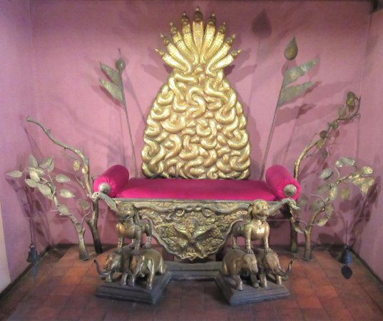 Throne of the Patan kings on display in the Patan Museum.