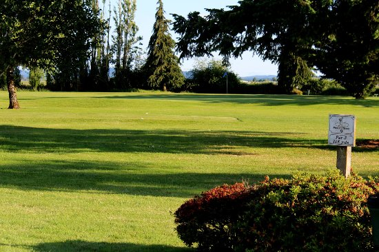 Eugene, OR: This is a typical scene on the Fiddler's Green course. Photo from FIddler's Green