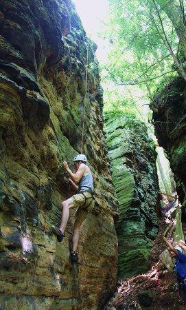Rockbridge, OH: Rock Climbing at High Rock Adventures-Hocking Hills Ecotours