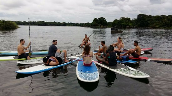 Гранада, Никарагуа: Just before meditation on the paddleboards