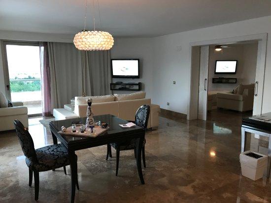 Beloved Playa Mujeres: Living Room of Penthouse Suite