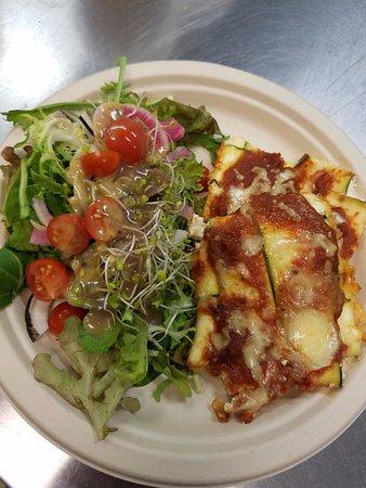 West Monroe, Luizjana: Zucchini Ravioli & a fresh, local, garden salad