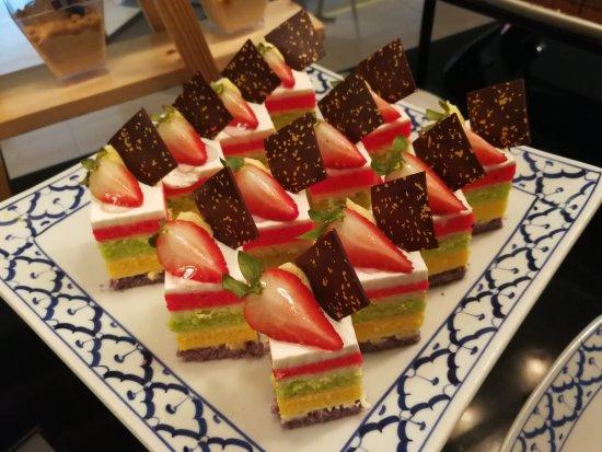 rainbow cake - Picture of Citi Bistro, Bangkok - TripAdvisor
