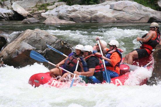 Erwin, TN: Navagating the rapids.