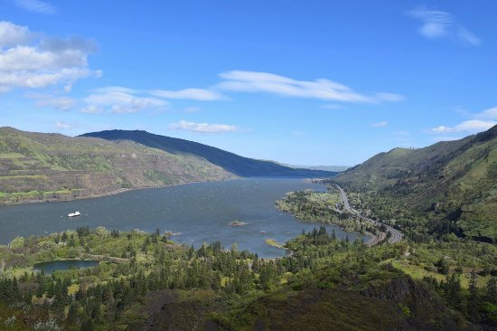 Mosier, OR: In another the view looking out over the Columbia river.