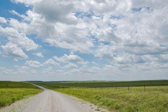 Oklahoma: Dramatic skies above the Bison Loop.