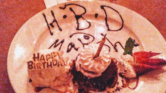 Salt Point, NY: Special Birthday dessert