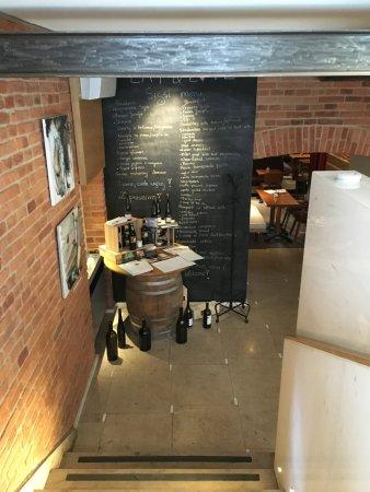 Inside the bistro