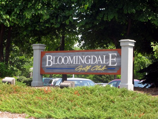 ‪‪Bloomingdale‬, إلينوي: sign for Bloomingdale Golf Club‬