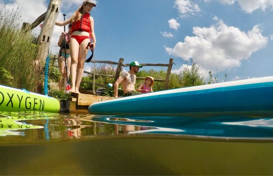 Larkfield, UK: Fun in the sun on a sup