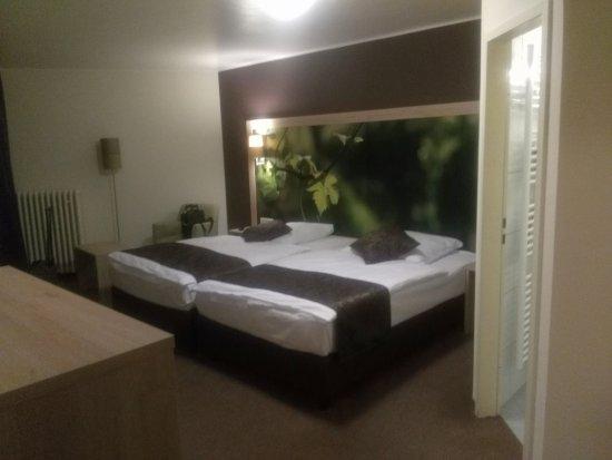 La chambre avec les 2 lits et l\'entrée de la salle d\'eau - Bild von ...