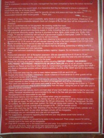 Hotel Villa Theresa: set of rules