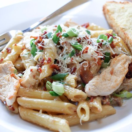 Lower Sackville, Καναδάς: Chicken Penne Carbonara - one of our most popular pastas.