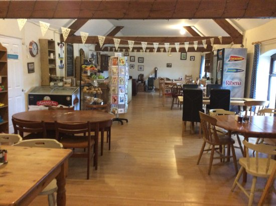 Pucklechurch, UK: A cafe in a converted barn with plenty of space on level ground for easy access