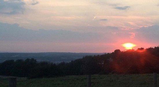 Wye, UK: sunset