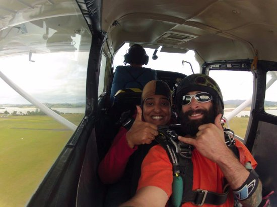 Whangarei, New Zealand: in the helicopter with Jay
