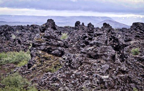 Lake Myvatn, Islandia: De lava rotsen