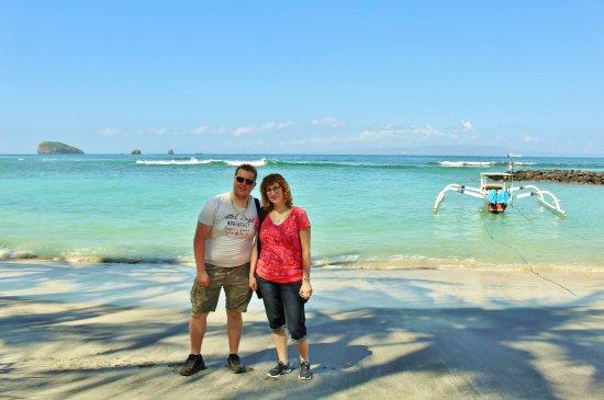 Puri Pandan Restaurant: uitzicht en strandje voor het restaurant