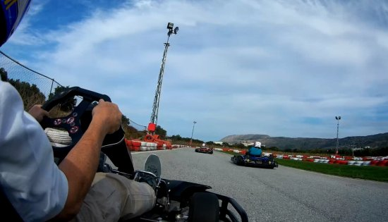 MegaDrive Go Kart: snapshot from go pro the other two guys racing