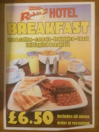 Bilston, UK: Breakfast advertised but not available