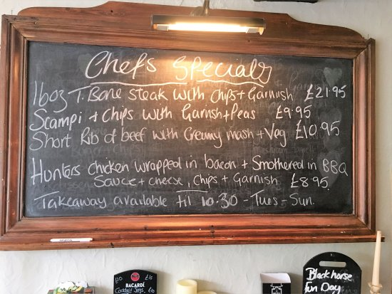 Tollerton, UK: chefs specials