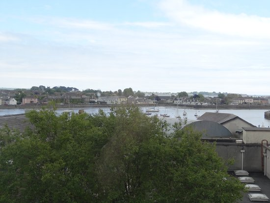 View from top floor overlooking Dungarvan Harbour